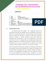 PLAN de QaliWarma Las Vilcas Ite 2016