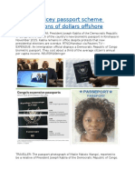 Congo's pricey passport scheme sends millions of dollars offshore.docx