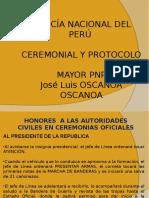 Ceremonial y Protocolo - 11ma. Semana