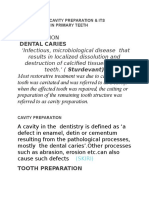 Principles of Cavity Preparation