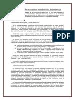 Las Actividades Económicas en La Provincia de Santa Cruz (1)
