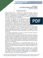 Semana 7 - Psicologia en El Perú