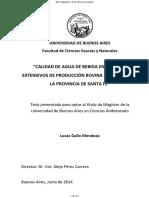 """""""Calidad de Agua de Bebida en Sistemas Extensivos"""