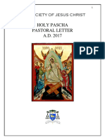 the society of jesus christ  orthodox-catholic church-holy resurection pastoral letter a d  2017