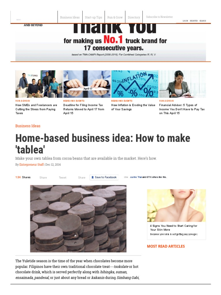 Home-based Business Idea_ How to Make \'Tablea\' _ Entrepreneur Ph ...