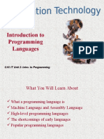 -Programming Development and Language CAYF2005