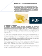 Los Microorganismos en La Elaboración de Alimentos