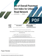 Presentation - Development of Overall Pavement Condition Index for Urban Road Network