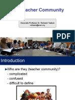 Lecture 3 - Teacher Community