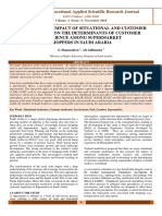 A STUDY ON THE IMPACT OF SITUATIONAL AND CUSTOMER MODERATORS ON THE DETERMINANTS OF CUSTOMER EXPERIENCE AMONG SUPERMARKET SHOPPERS IN SAUDI ARABIA