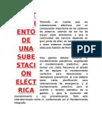 Mantenimiento de Una Subestación Eléctrica