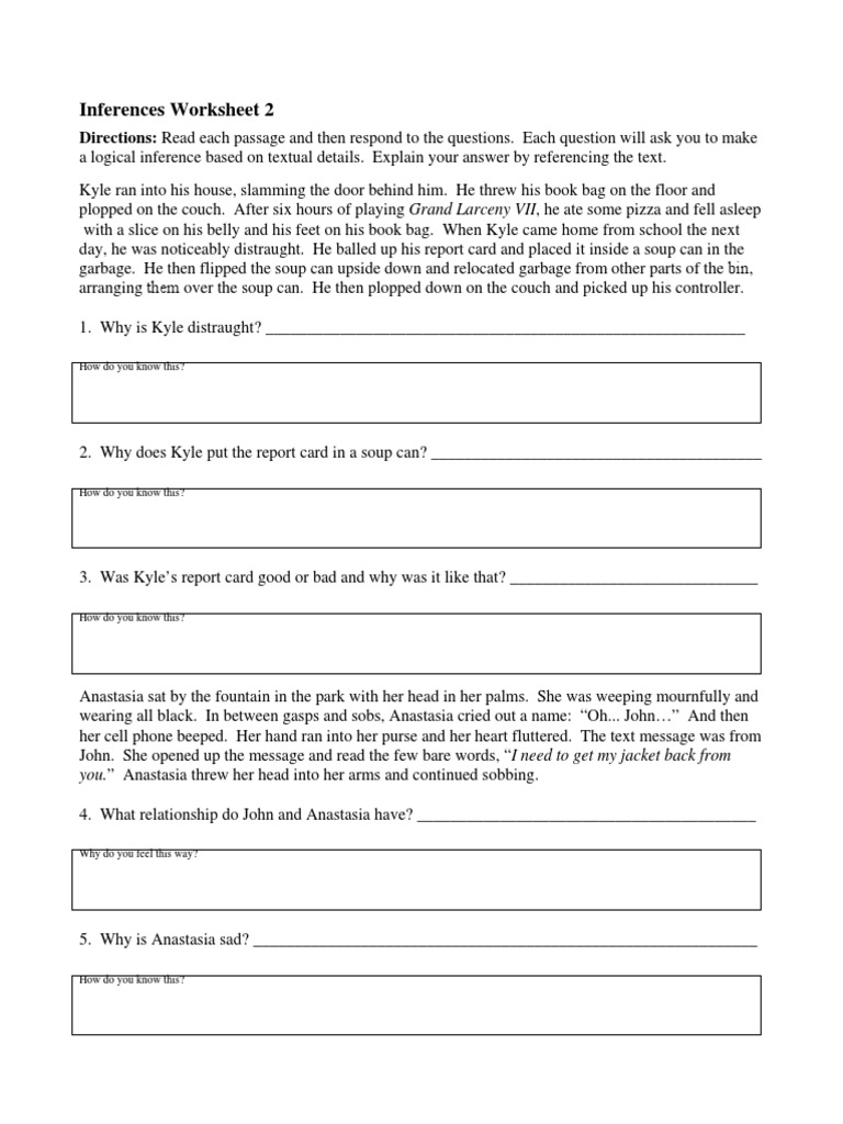 Worksheets Inferences Worksheet 2 making inferences 2 leisure