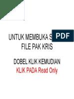 00 Untuk Membuka File Pak Kris Dobel Klik Filenya Kmdn Klik Pada Read Only