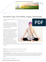 Kundalini Yoga_ the Healthy, Happy, Holy Breath _ Kundalini