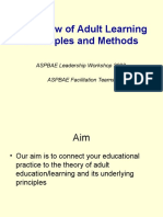 Overview of Adult Learning Principles & Methods