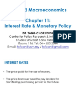 Chapter 11 - Interest Rate Monetary Policy Dr Tang