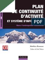 Plan de Continuite d'Activite Et Systeme d'Information