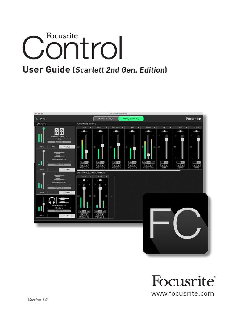 focusrite-control-scarlett pdf   Input/Output   Recording