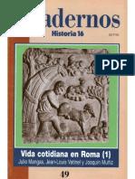 Cuadernos Historia 16, Nº 049 - Vida Cotidiana en Roma (I)