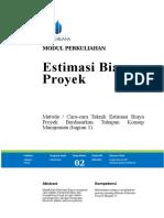 Modul 2_Estimasi Biaya Proyek