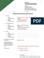 Form Permohonan Pendaftaran Ciptaan