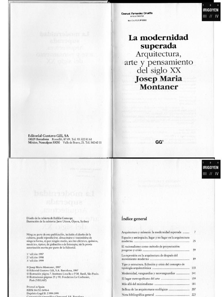 La Modernidad Superada: Ensayos Sobre Arquitectura Contemporánea PDF