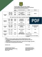 Jadual Ujian Penggal 2 2017