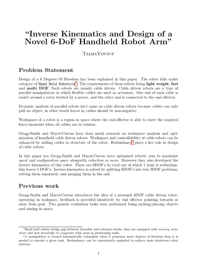 Robotics Assignment | Robot | Technology