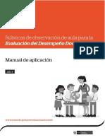 Rúbricas 2017 - Manual de Aplicacion (Desemepeño Docente)