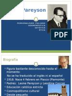 Luigi Pareyson Personalismo Hermeneutca