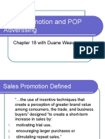 MBA-532-Sales Promotion and POP Advertising - Chp 18