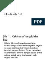Inti Sila Pancasila 1-5