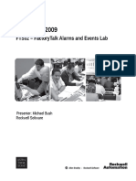 FTS02 - FactoryTalk Alarms and Events Lab Manual