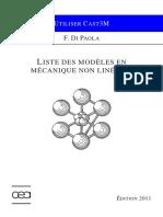 1 - Liste Modeles Mecanique Non Lineaire