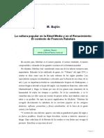 Bajtin, Mijaíl - La Cultura Popular en La Edad Media y en El Renacimiento