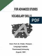 1. Vocabulary Skill