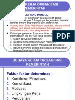 Budaya Kerja Organisasi Pemerintahan