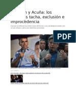 Tacha , Exclusion e Improcedencia