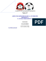 Aspectos Específicos de La Nutrición Deportiva y Ayudas Ergogénicas