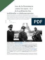 Las Mentiras de La Resistencia Francesa Contra Los Nazis