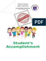 Students Accomplishment