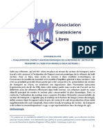 EVALUATION DE L'IMPACT MACROECONOMIQUE DE LA REFORME DU  SECTEUR DE  TRANSPORT A L'AIDE D'UN MODELE A DEUX SECTEURS  |  Association Des Statisticiens Libres | ASL