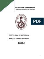 Reglamento de Matricula 2017-1