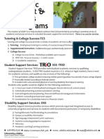 Academic Support and Access Programs