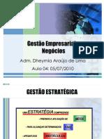 Aula 04 de 14 - Gestão Empresarial e Negócios (05-07-10)