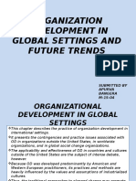 Organization Development in Global Settings and Future Trends