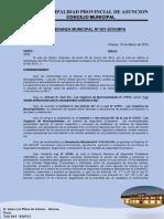 Ordenanza Municipal N°  001-PLAN PROVINCIAL DE SEGURIDAD CIUDADANA