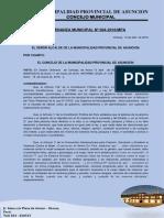Ordenanza Municipal N°  002-PROPAGANDA ELECTORAL