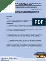 Ordenanza Municipal N°  011