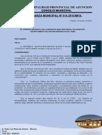 Ordenanza Municipal N°  014